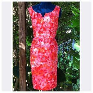 R & K | Coral A Line Floral Dress